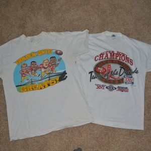 Other - 49ers Vintage Tee Shirt Lot 1989 XL  SB Champs
